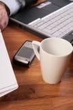 Nenhum tempo para a ruptura de café. Fotografia de Stock