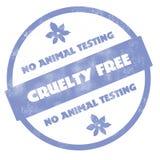 Nenhum teste animal - a crueldade livra o carimbo de borracha Fotos de Stock