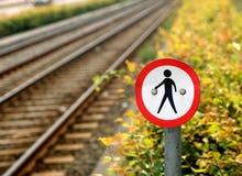 Nenhum tráfego de pedestre Imagem de Stock