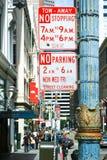 Nenhum tráfego do estacionamento assina dentro San Francisco Fotografia de Stock Royalty Free