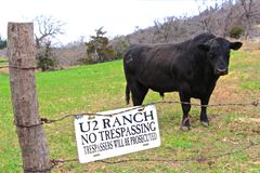 Nenhum Tresspassing Fotografia de Stock Royalty Free