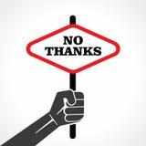 Nenhuma bandeira dos agradecimentos ilustração do vetor