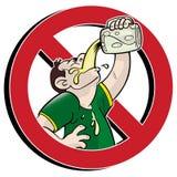 Nenhuma bebida! Imagem de Stock