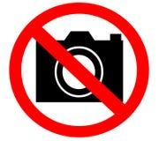 Nenhuma câmera proibiu proibido proibido Foto de Stock Royalty Free
