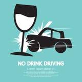 Nenhuma condução em estado de embriaguês Imagens de Stock