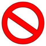 Nenhuma entrada Ilustração vermelha do vetor da limitação da proibição ilustração stock