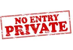 Nenhuma entrada privada ilustração stock