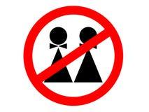 Nenhuma homossexualidade! ilustração do vetor