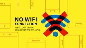 Nenhuma ilustração do vetor da página da conexão do wifi Fotos de Stock Royalty Free