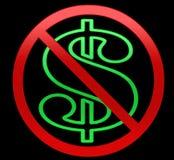 Nenhuma ilustração dos dólares/dinheiro Imagens de Stock Royalty Free