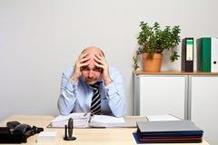 Nenhuma maneira para fora para o gerente desesperado Foto de Stock