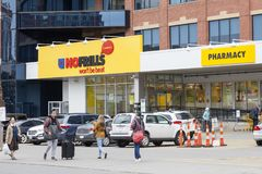 Nenhuma mercearia dos folhos em Toronto, Canadá Fotografia de Stock