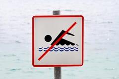 Nenhuma nadada Imagens de Stock