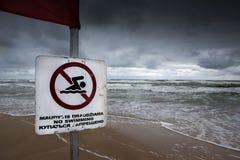 Nenhuma natação Fotografia de Stock
