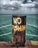 Nenhuma pesca imagem de stock