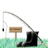 Nenhuma pesca ilustração do vetor