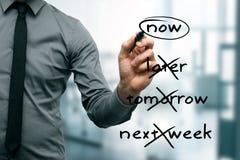 Nenhuma procrastinação - faça-a agora Fotografia de Stock