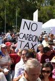 Nenhuma reunião do imposto do carbono Imagens de Stock Royalty Free