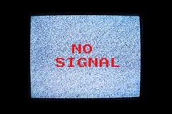 Nenhuma tela da tevê do sinal Fotografia de Stock Royalty Free