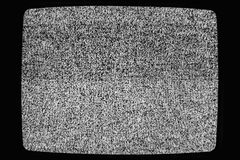 Nenhuma textura da tevê do sinal Efeito granulado do ruído da televisão como um fundo Nenhum teste padrão retro da televisão do v Imagem de Stock