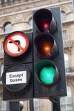 Nenhuma volta esquerda Imagem de Stock