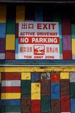 Nenhuma zona de estacionamento Imagem de Stock