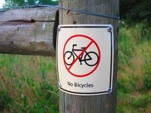 Nenhumas bicicletas permitidas Imagens de Stock