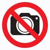Nenhumas câmeras permitidas o sinal Proibição vermelha nenhum sinal da câmera Nenhumas imagens de tomada, nenhum sinal das fotogr ilustração do vetor