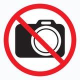 Nenhumas câmeras permitidas o sinal Proibição vermelha nenhum sinal da câmera Nenhumas imagens de tomada, nenhum sinal das fotogr Foto de Stock Royalty Free