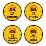 Nenhumas câmeras - sinal do círculo Imagens de Stock