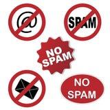 Nenhuns ícones do Spam Imagem de Stock Royalty Free