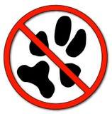 Nenhuns animais de estimação permitidos Imagem de Stock