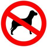 Nenhuns cães permitidos Fotografia de Stock