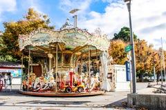 Nenhuns childs no jardim de infância ensolarado Imagens de Stock Royalty Free