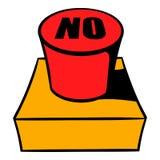 Nenhuns desenhos animados do ícone do botão vermelho Foto de Stock Royalty Free