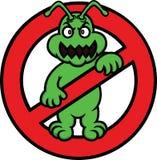 Nenhuns desenhos animados do sinal das bactérias Imagem de Stock Royalty Free