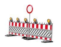 Nenhuns sinais de tráfego do lado da construção da passagem isolados Fotografia de Stock Royalty Free