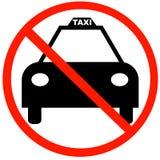 Nenhuns táxis de táxi permitidos Fotografia de Stock Royalty Free