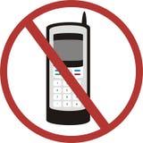 Nenhuns telefones móveis Ilustração Royalty Free