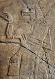 Neo Assyrian reliefs, Palace at Nimrud, 850BC, Pergamon Museum, Berlin Royalty Free Stock Photos