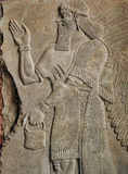 Neo Assyrian reliefs, Palace at Nimrud, 850BC, Pergamon Museum, Berlin Royalty Free Stock Photo