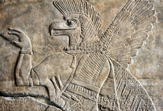 Neo Assyrian reliefs, Palace at Nimrud, 850BC, Pergamon Museum, Berlin Stock Photos