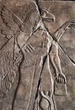 Neo Assyrian reliefs, Palace at Nimrud, 850BC, Pergamon Museum, Berlin Royalty Free Stock Images