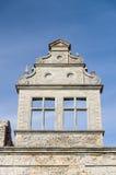 Neo-baroque masonry wall detail closeup. Ungru manor, Estonia stock photography
