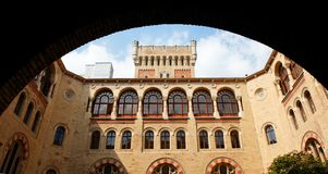Neo-Byzantine building seen through the archway Royalty Free Stock Photo
