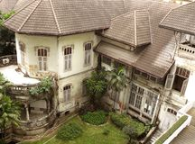 Neo-Classic antique abandoned house. Photo of old Neo-Classic antique abandoned house. This place was old public park and old theater in Bangkok, now is a Royalty Free Stock Photo