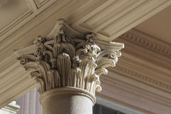 Neo-classical column capital Royalty Free Stock Images