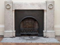 Neo Classical Fireplace Royalty Free Stock Photography