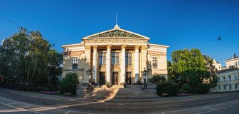 House of the Estates was the home of Parliament in the past, now used for government events, Helsinki, Finland. Neo-classical House of the Estates was the home stock image