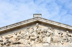 Neo Classical roof detail at Greenwich Stock Images